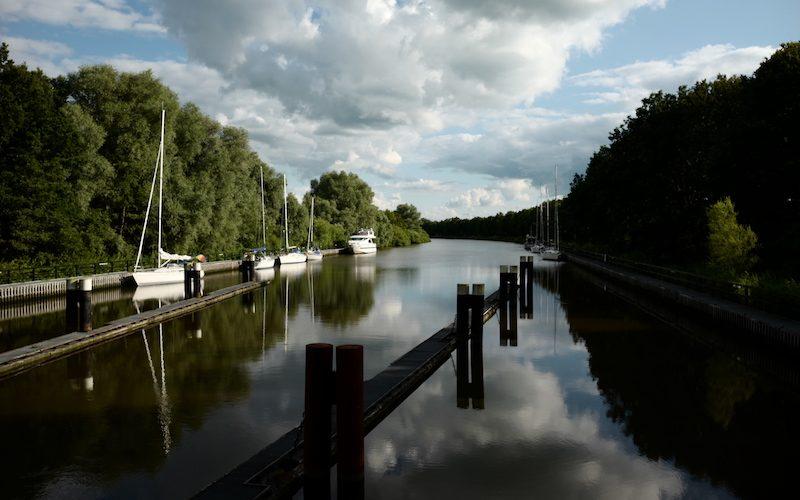 Gieselau Schleuse, Gieselau Kanal