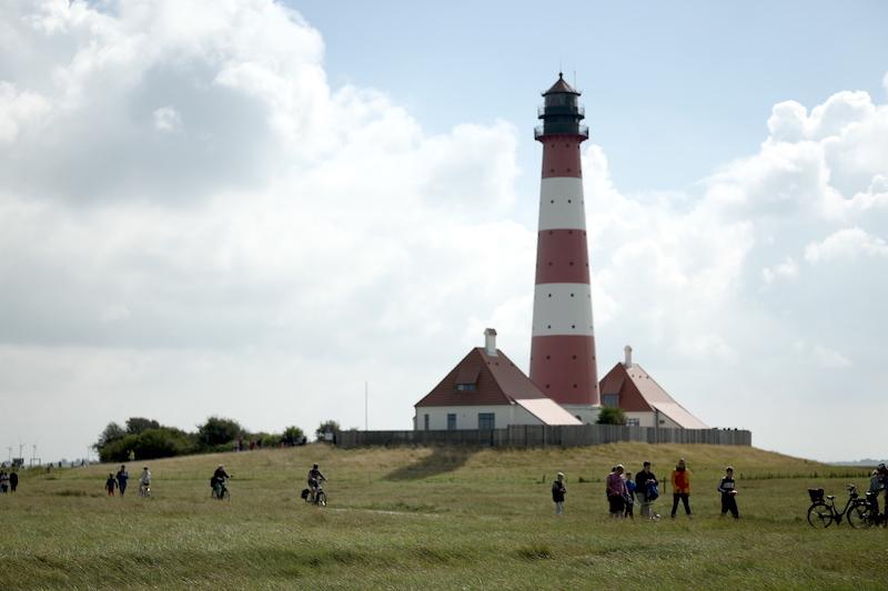 Leuchtturm Westerhever, Westerheversand, Leuchttürme Schleswig-Holstein