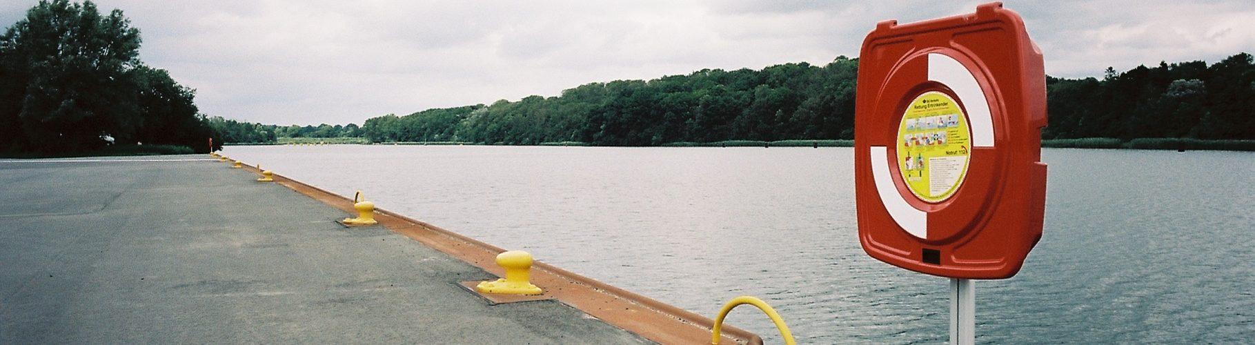 Flemhuder See, Arbeitshafen für die Kanalerweiterung   © weites.land
