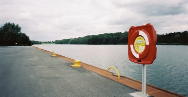 Flemhuder See, Arbeitshafen für die Kanalerweiterung | © weites.land
