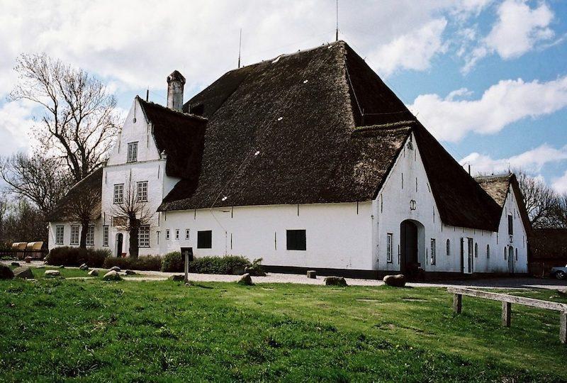 Historischer Roter Haubarg Witzwort, Haubarge auf Eiderstedt, Nordfriesland