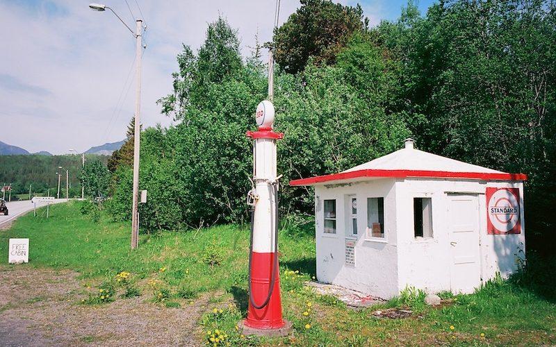 Sørkil Besinstasjon Esso, Sørkil Camping, Hameroy, Kodak Ektar, Leica Elmarit M 2.8 28 asph., VW T6 California Beach 4Motion |©mare.photo