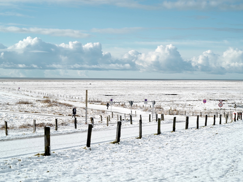 Winter an der Nordsee, Schnee in St.Peter Ording, Leica M 75mm asph.