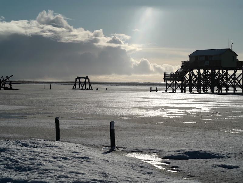 St Peter Ording Winter, Pfahlbauten, Giftbude, Leica M APO 2.0 75mm asph.