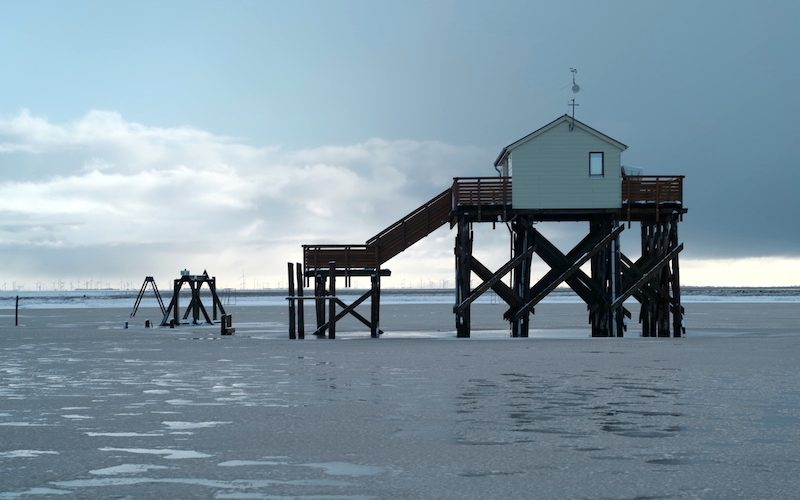 St Peter Ording Winter, Pfahlbauten, Giftbude, Leica M APO 2.0 75mm asph