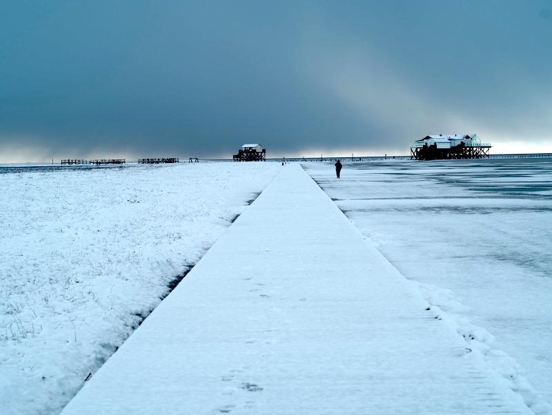 Winter an der Nordsee, Schnee in St.Peter Ording, Leica M 75mm asph.