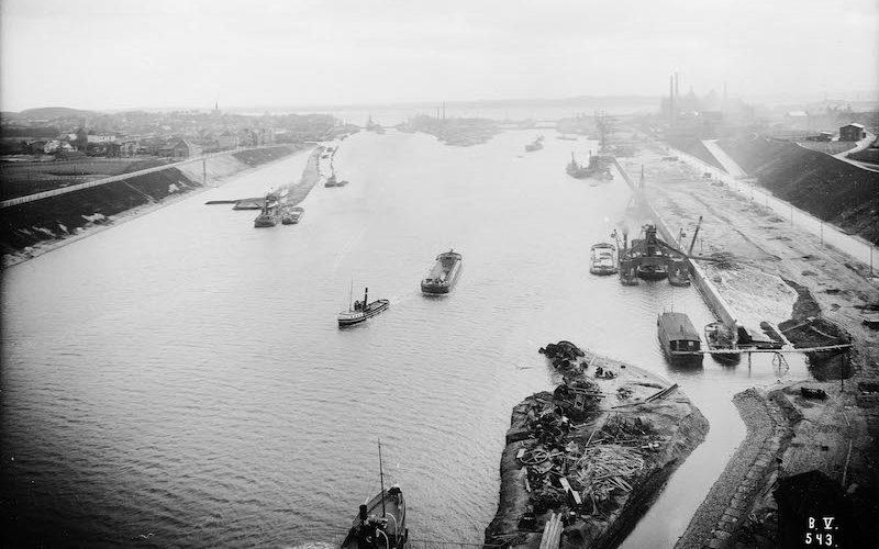 Nord-Ostsee-Kanal, Kiel Holtenau, historische Bilder, Quelle: WSA Kiel