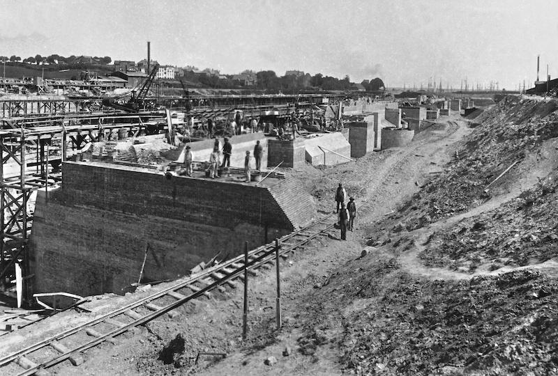 Nord-Ostsee-Kanal, Kleine Schleusen in Bau |Quelle: WSA