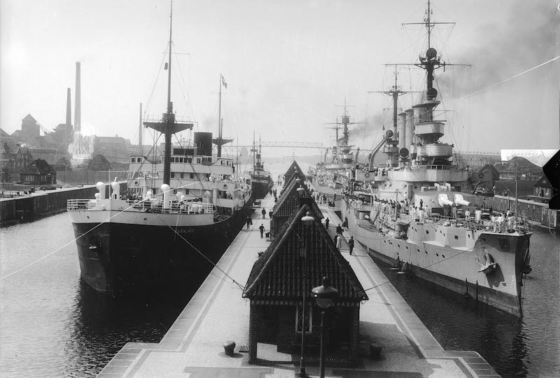 Nord-Ostsee-Kanal, historische Bilder Kiel, Quelle: WSA Kiel