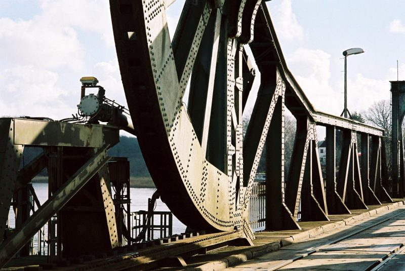 Schleibrücke Lindaunis, Rollklappbrücke, Taterphfahl, Eider