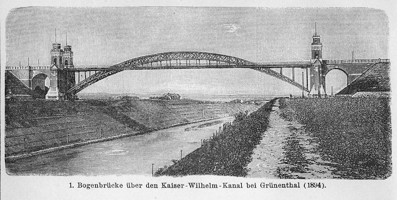 alte Grünentaler Brücke über den Nord-Ostsee-Kanall