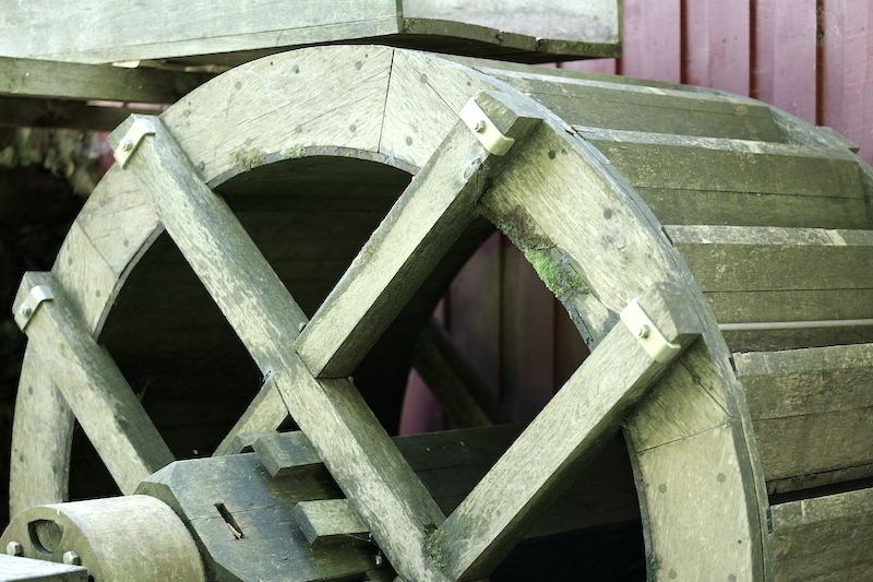 Vibæk Vandmølle, Vibek Wassermühle, Gendarmstien