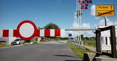 Grenzübergang Rosenkranz - Rudbøl, Corona