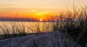 Sonnenuntergang am Strand von Utersum